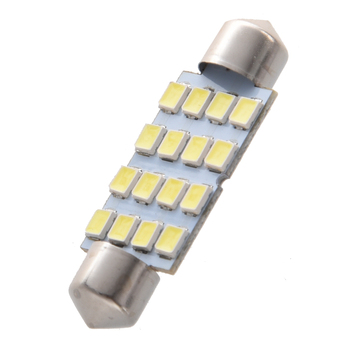 8x41mm 16 3528 SMD LED Ampuller Beyaz Araba Dome Festoon İç Işık 12 V