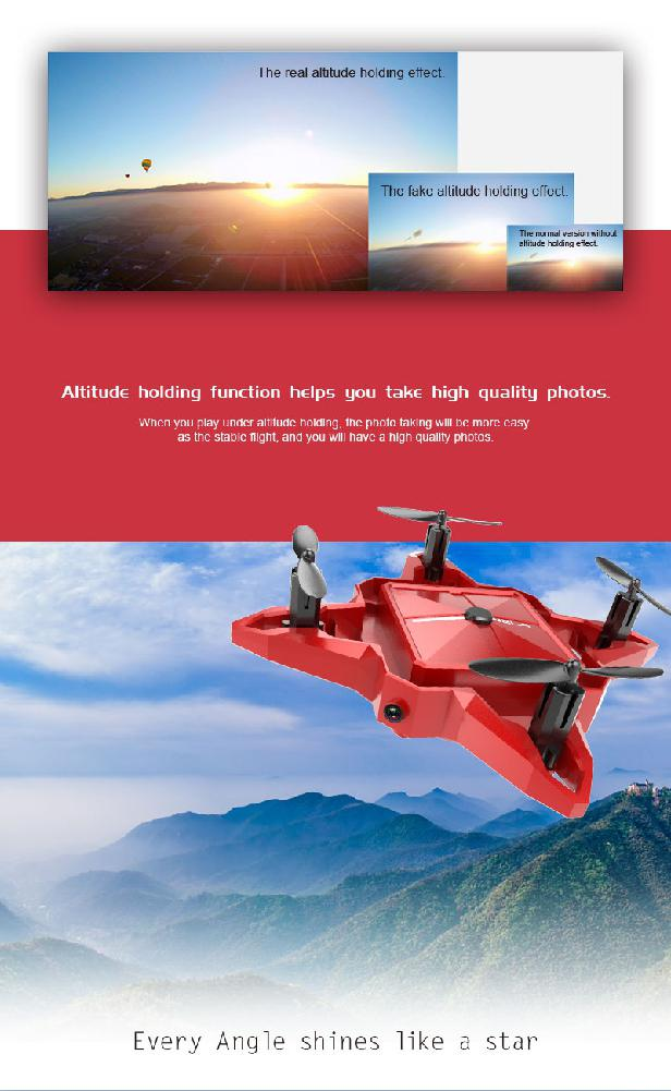 LeadingStar LeadingStar S11 Mini 2.4G 4CH Rakım Tut HD Kamera Özçekim WIFI FPV RC Quadcopter